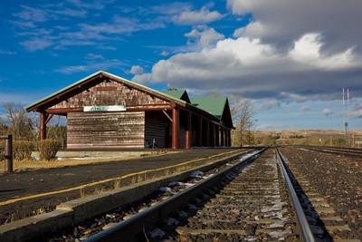 Glacier Park Train Depot, Glacier National Park, East Glacier, Montana