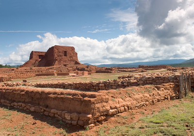 Ruins of a Colonial Spanish Mission Church in Pecos, New Mexico