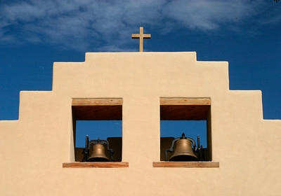 Belltower at a Church in Pueblo Cochiti, New Mexico