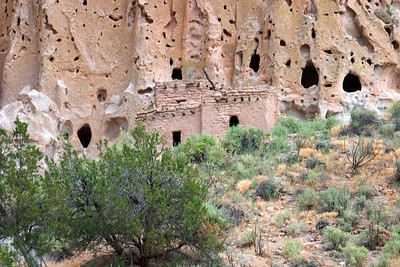 Cave Dwellings at Bandolier National Monument in New Mexico