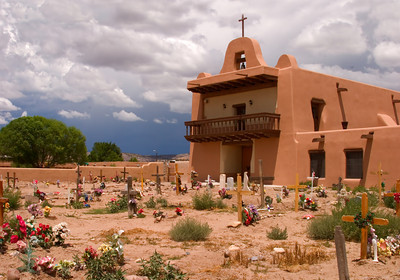 Church in San Idelfonso Pueblo, New Mexico