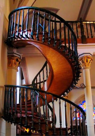 Staircase in Loretto Chapel, Santa Fe, New Mexico