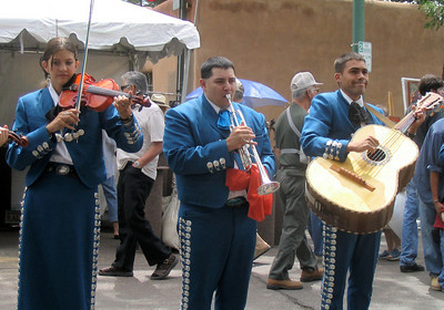 Mariachi Band at the Spanish Market festival in Santa Fe, New Me