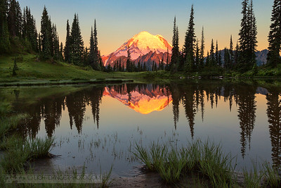 Mount Rainier from Upper Tipsoo Lake
