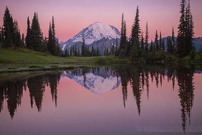 Don't Breathe - Upper Tipsoo Lake reflecting Mount Rainier
