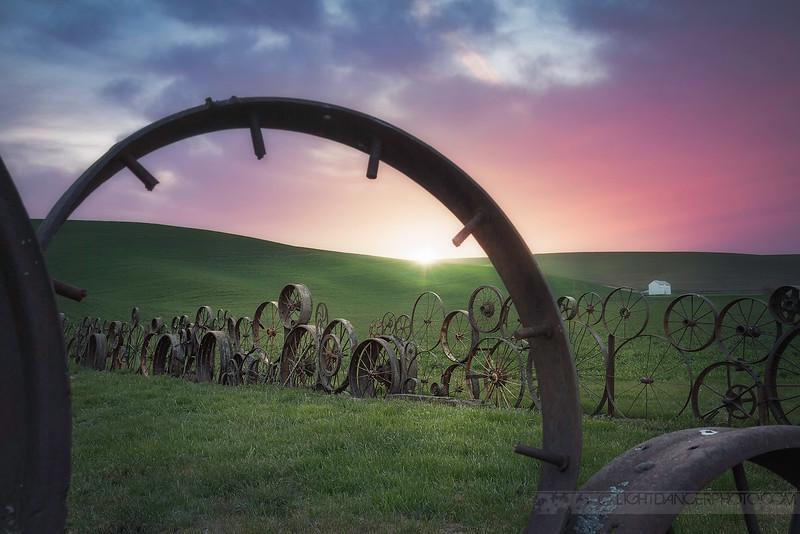 Dahmen Barn Fence Sunset