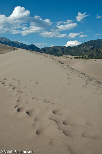 The Great Sand Dunes with the Sangre de Cristo Mountains in the background.