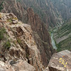 The Gunnison River as seen from the rim of the Black Canyon of the Gunnison.