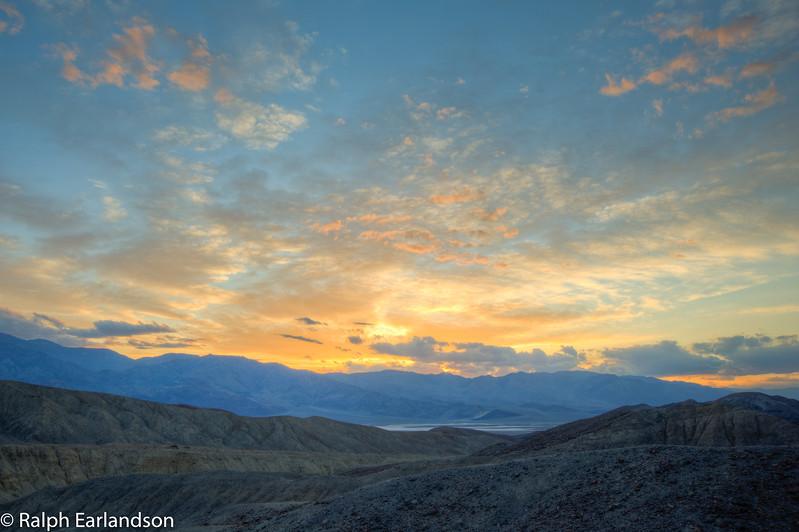 Sunset at Artists Palette.