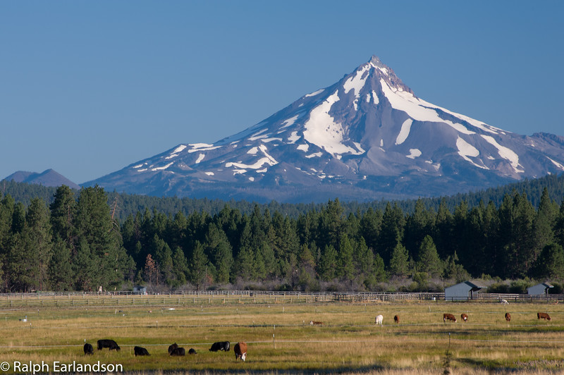 Mt. Jefferson from Sisters, Oregon.