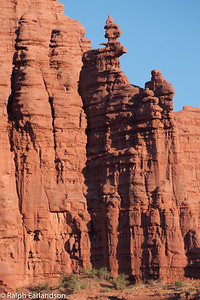 Rock formations at the Fisher Towers.