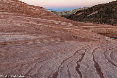 Fire Wave in twilight, Valley of Fire.
