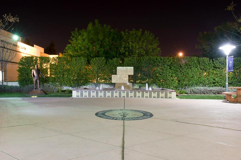 Pumerantz Statue and University Fountain, Pomona, California