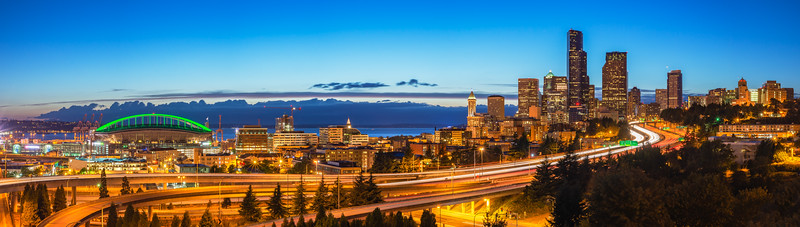 Seattle Blue Hour Panorama