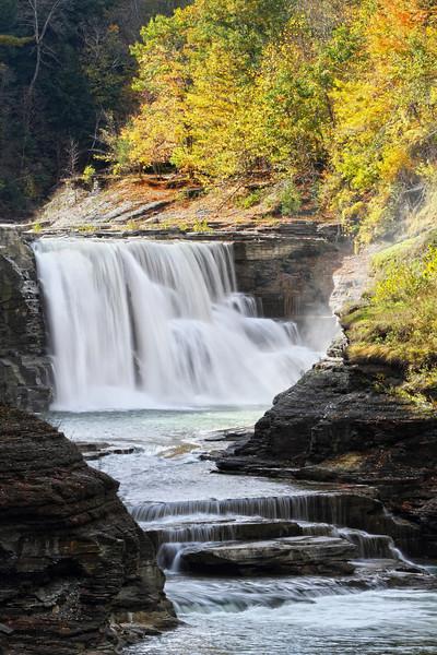 Image #4453<br /> Lower Falls ~ Letchworth State Park, Western N. Y.