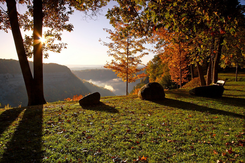 Image #2824<br /> Sunrise above the gorge in Letchworth State Park, Western N. Y.