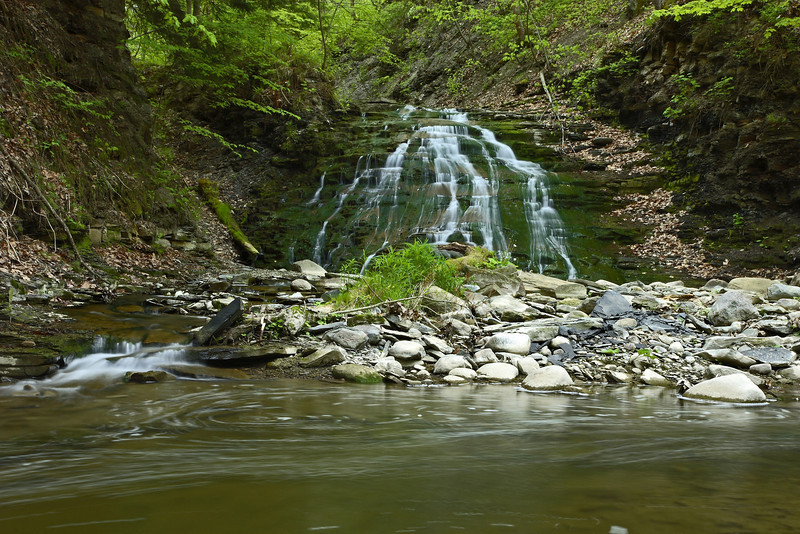 Image #7327<br /> A cascade from Silver Lake outlet in Letchworth State Park, Western N. Y.