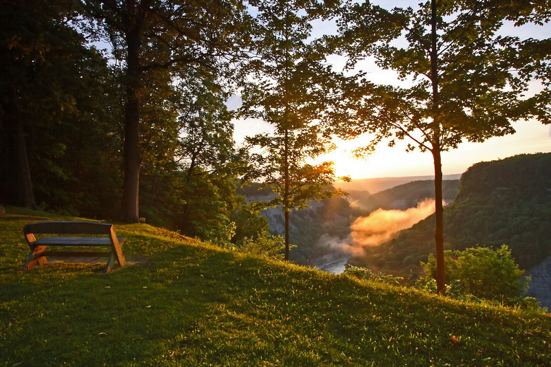 Image #8117<br /> Sunrise over the gorge in Letchworth State Park, Western N. Y.