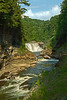 Image #8162<br /> Afternoon sun over the Lower Falls, Letchworth State Park, Western N. Y.