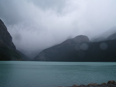 rainy day at Lake Louise (2006)