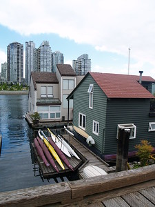 """These houseboats are docked at Granville Island near the Emily Carr Institute. Emily Carr was an artist. Her works are on display at the Vancouver Art Gallery. If you ever watched """"McGyver"""", this is where the houseboat that the character lived in was located (2006)."""