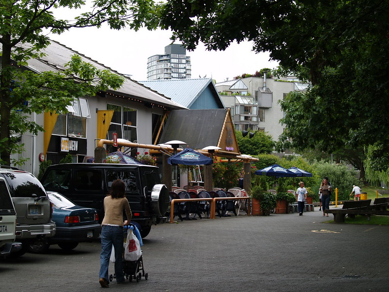 Cat's Meow restaurant and residential section beyond off Granville Island (2005)
