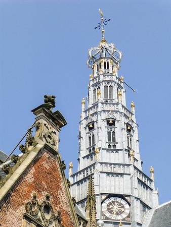 Haarlem Grote Kerk - (Church) - 400 year old cannon ball
