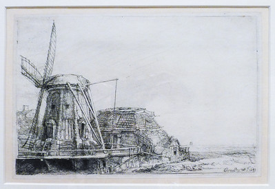 Amsterdam Rembrandt's House - Rembrandt's etching