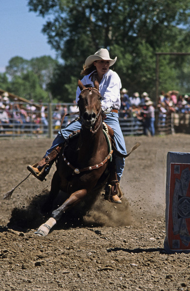 L6014 Barrel racing. Choteau, Montana