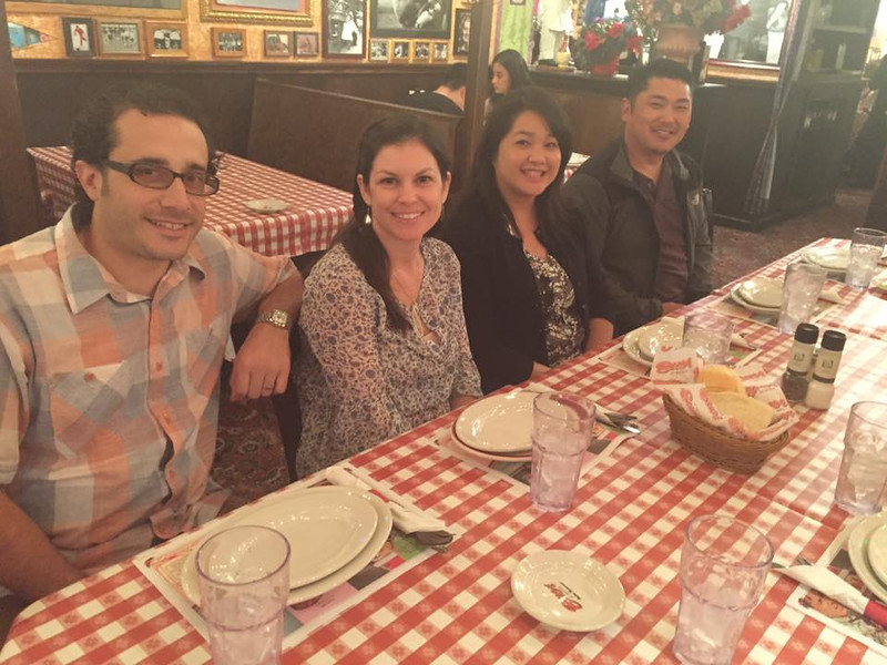 About two dozen alumni, faculty, staff, and guests gathered at the Buca di Beppo in Anaheim to celebrate the PA Class of 2001's 15th  Reunion.