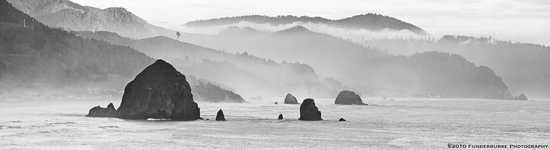 Haystack Rock Panorama - Cannon Beach