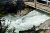 Foaming stream coming down from Hidden Falls