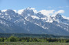 The Tetons beyond the Snake River at Snake River Overlook