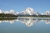 The Tetons reflected in Jackson Lake