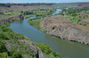 Looking down the Snake River in Twin Falls, Idaho