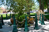 In Lovelock, Nevada Civic Center -- bollards and chains to hold ...