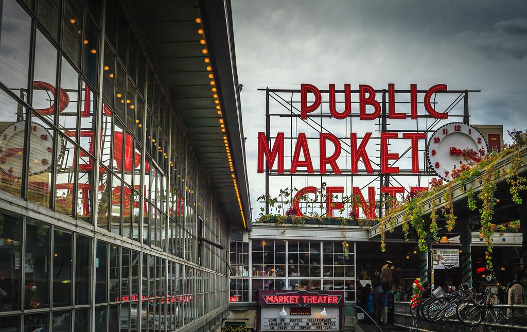 Outside Pike Place Market