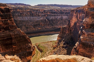 Colorado River and millions of years of sand