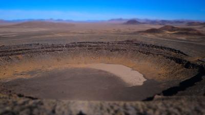 Volcanic crater, Nevada