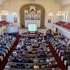 A full house at First Congregational Church for Wednesday's talk.