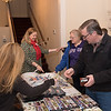 Attendees perusing Westfield 350 items for sale prior to Wednesday's talk.