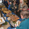Attendees to Wednesday's Westfield 350 talk sample a buffet of foods based on early native indian food.