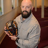 Speaker Dan Genovese at Wednesday night's Westfield 350 talk about the origins and history of baseball in Westfield.