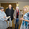 Patricia Jones checks out a Westfield 350 book along with Larry and Betty Faulhaber and Cindy Gaylord.