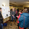 Westfield State University students Jared LaVallee and Josselyn Donahue speak with attendees about their History for 350 project.