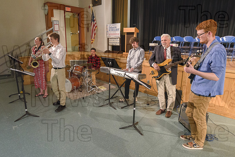 The Westfield High Jazz Band provided musical entertainment while waiting for the event to begin.