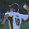 The Starfires pitcher Stephen Fleury (10) fires one in at Friday's game against the Pittsfield Sun.