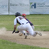 Andrew Ciacciarelli beats the ball to second base.