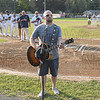 Jon Berman sings the national anthem at Saturday's Starfires game against the Worcester Bravehearts.