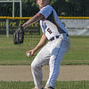 Starfires pitcher Jack Fox (6) winds up in Tuesday's game against the Bristol Blues.